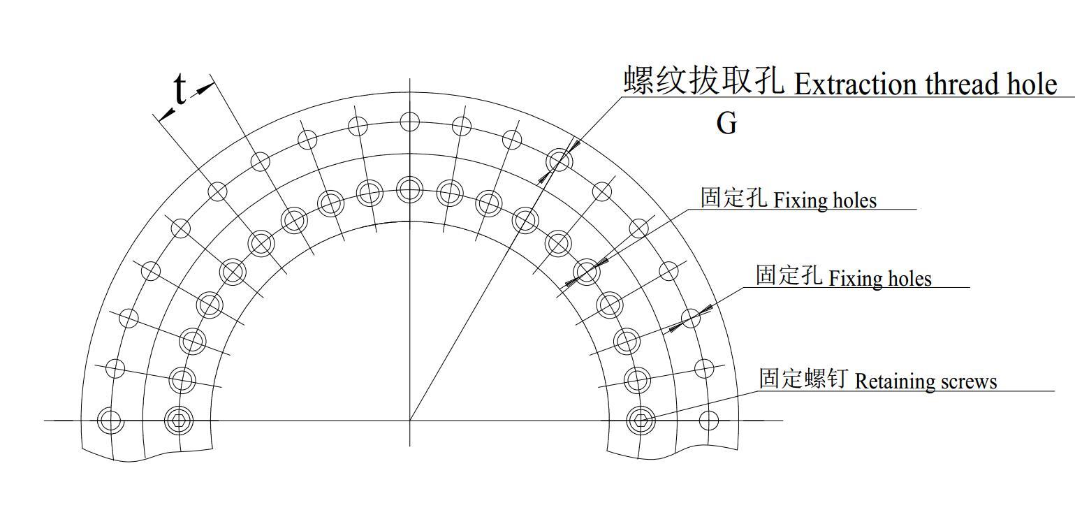 YRT转台轴承孔位图